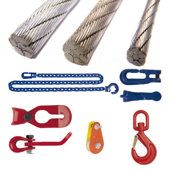 Bekötőláncok, kötelek és tartozékai